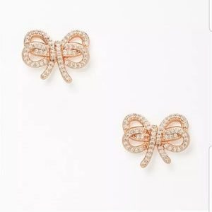 NWT Kate Spade 'Bow Meets Girl' rose gold earrings
